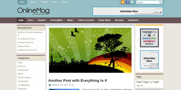 OnlineMag WP Free Theme