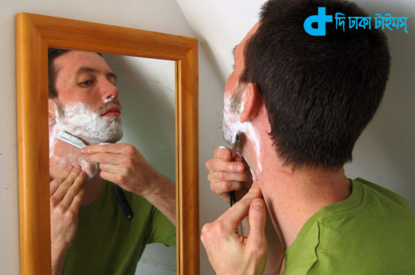 After bathing, shave the beard