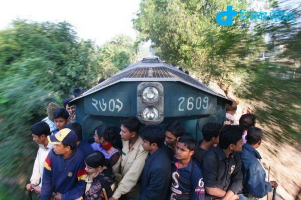 Engine train travel is risky