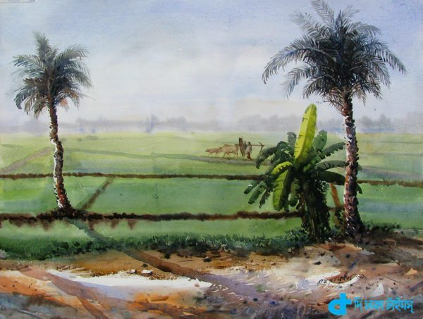 Artist's impression of the rural landscapes