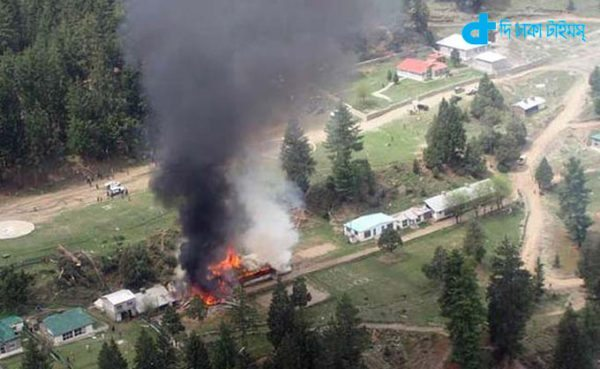 Helicopter crash in Pakistan