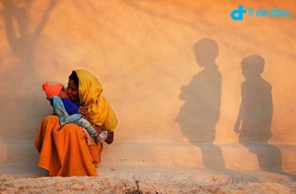 mother & child a rare scene