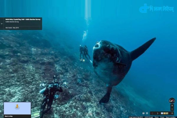sea can be seen on Google streetview