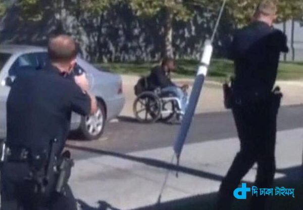 wheelchair and was shot by the police