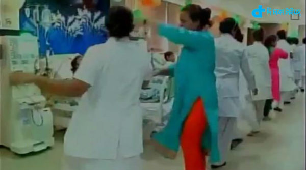 Nurses Dance, hospital