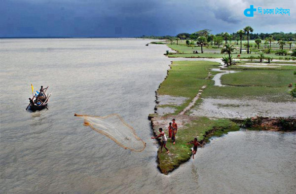 Scenic view of riverine Bangladesh