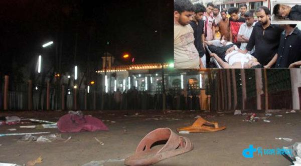 midnight Husaini building bombing kills 1