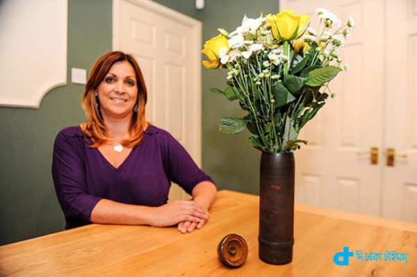 unexploded bombs & A vase made