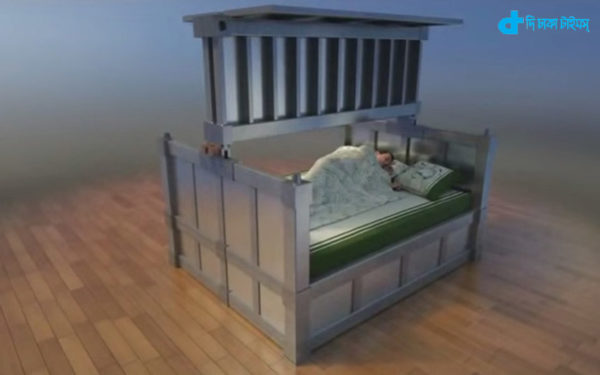 Earthquake-proof bed in house