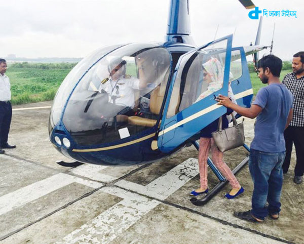 Traveling by helicopter is a piece of cake