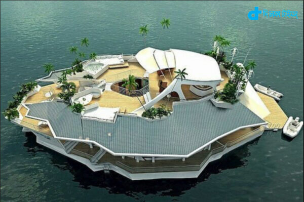 story of a house floating luxury