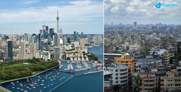 Toronto & Dhaka more than cost