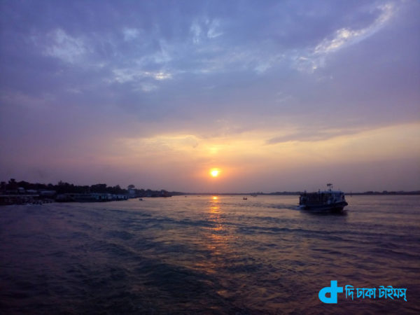 One beautiful coloring riverine Bangladesh