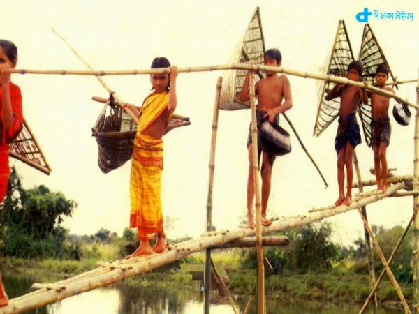 Teenager fishing village