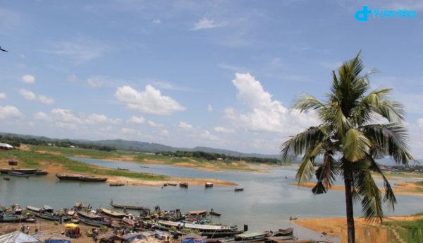 Lake scenic landscapes of the Kaptai