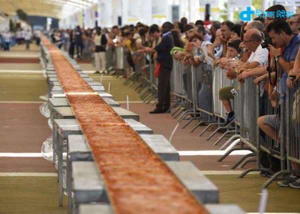Pizza in a strange, almost two kilometers long