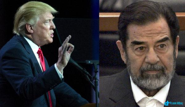 Trump praised Saddam