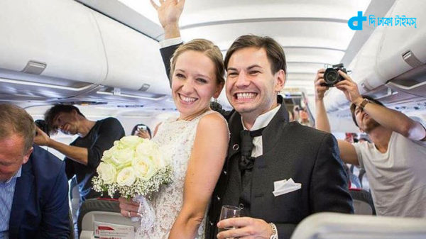 Air flight is proposing marriage