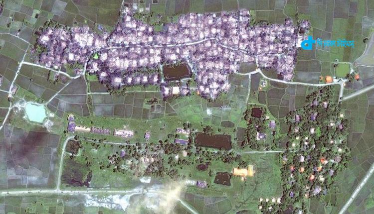 স্যাটেলাইট ছবিতে '২৮৮ রোহিঙ্গা গ্রাম পোড়ানোর চিহ্ন' পাওয়া গেছে 1